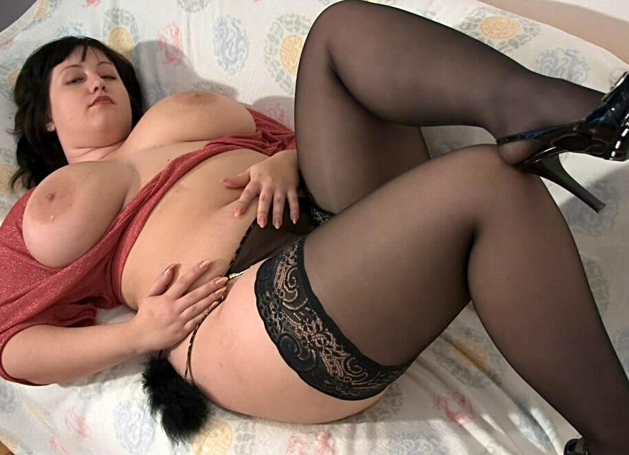 толстых чулках в порнушка баб